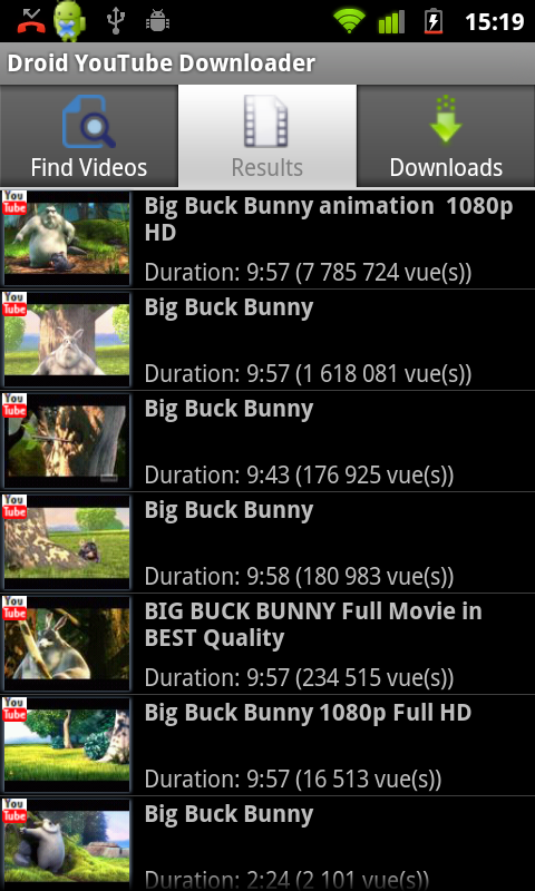 Droid Youtube Downloader
