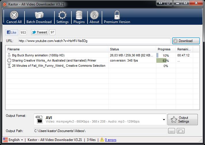 Kastor All Video Downloader 1.9